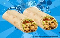 juicy chicken burrito