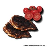 juicy blackened chicken